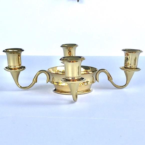 PartyLite Brass Candelabra candle holder vintage